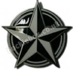 NAUTICAL STAR BLACK/WHITE Belt Buckle + display stand